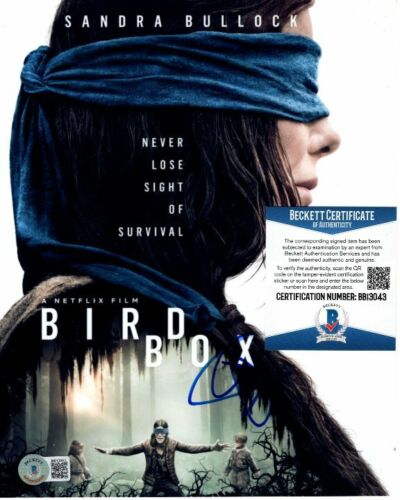 SANDRA BULLOCK signed 8x10 BIRD BOX MALORIE photo Beckett BAS