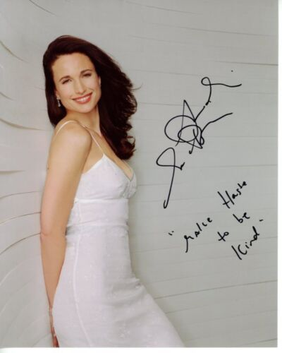 ANDIE MACDOWELL signed autographed 8x10 photo GREAT CONTENT