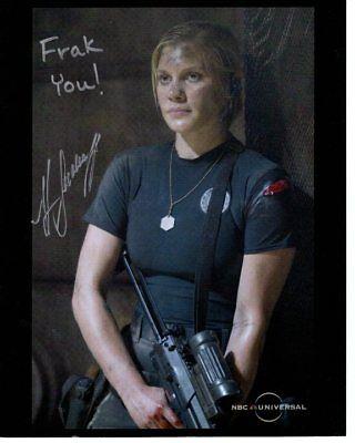 Katee Sackhoff Signed Battlestar Galactica Starbuck Photo W Hologram Coa Content