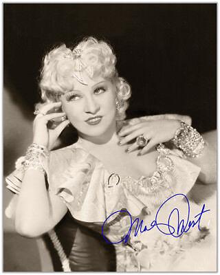 Mae West 1936 Sex Symbol 8X10 Photograph Autograph 8X10 Rp