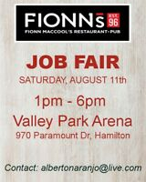 Job Fair Fionns MacCools!!!