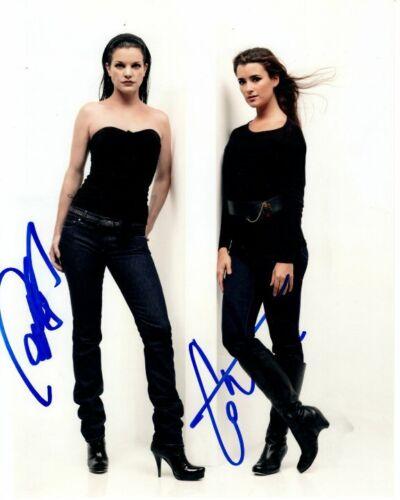 PAULEY PERRETTE and COTE DE PABLO signed autographed NCIS photo