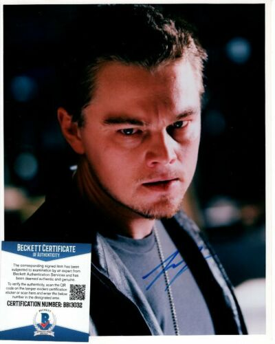 LEONARDO LEO DICAPRIO signed 8x10 THE DEPARTED BILLY photo Beckett BAS