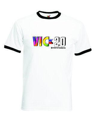 VIC-20 Retro Computer Arcade Gaming Ringer T-Shirt