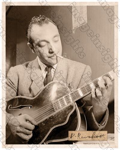 DJANGO REINHARDT Jazz Guitar Legend ca1947 8 X10 PHOTO AUTOGRAPH RP