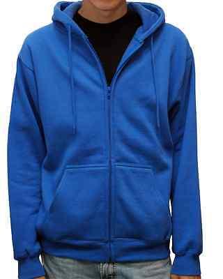 Men's Premium Heavyweight Full Zip Up Hoodie Classic Zipper Hooded Sweatshirt
