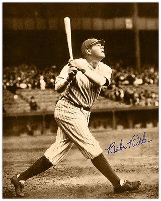 BABE RUTH Baseball Legend 8x10 Photograph Autograph RP