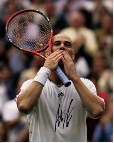 ANDRE AGASSI signed autographed TENNIS 8x10 photo