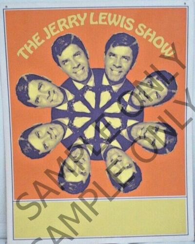 "The JERRY LEWIS Show NBC TV Promo Poster ORIGINAL Silk-Screen 22"" X 28"" Poster"