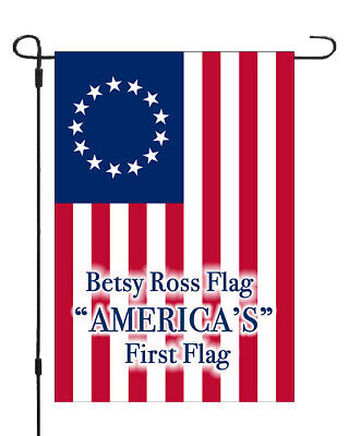 Betsy Ross Americas First Flag Garden Banner Patriotic 11x14-12x18 MADE IN USA](Patriotic Banner)