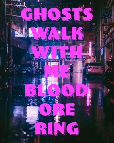 Ghosts Walk With Me Blood Ore Ring Spirit Ritual Incubus Succubus Dead Angel