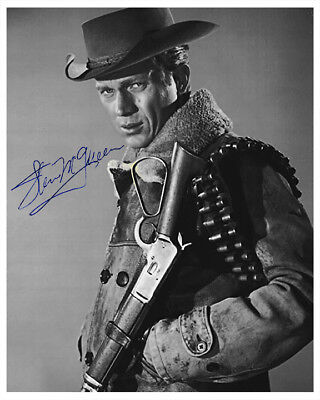 STEVE McQUEEN WANTED: DEAD OR ALIVE 1960's Hit TV Photograph Autograph 8x10 RP
