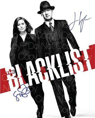 Blacklist Signed Photo James Spader Megan Boone 8X10 Inch Picture Autograph Rp