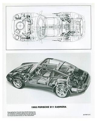 1995 Porsche 911 Carrera Cutaway Photo Poster zch3738