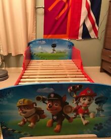 brand new bed and bedding