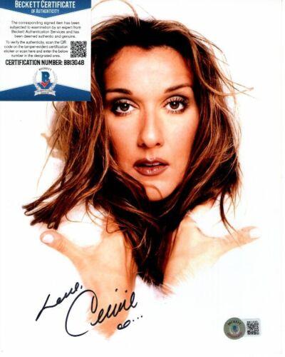 CELINE DION signed 8x10 photo Beckett BAS
