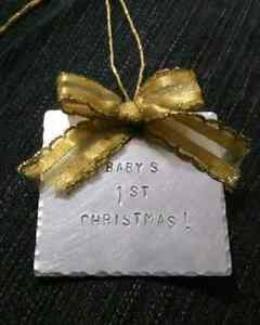 Personalized Metal Christmas Tree Ornaments