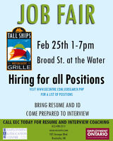 Job Fair for all positions at Tall Ships Landing Grille Feb. 25