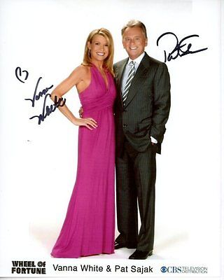 Vanna White   Pat Sajak Signed Autographed Wheel Of Fortune Photo
