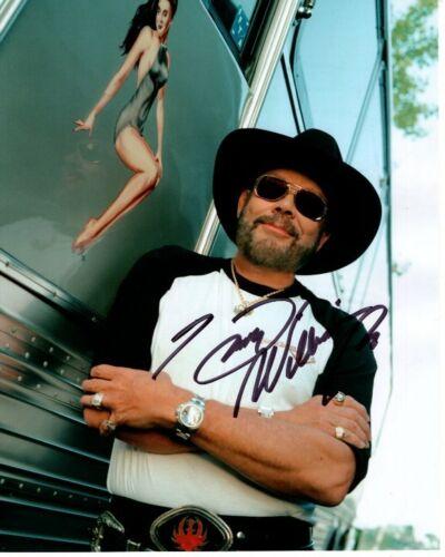 HANK WILLIAMS JR. signed autographed TOUR BUS PINUP photo