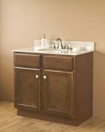 craftsman bristol brown bathroom vanity cabinet two doors base only