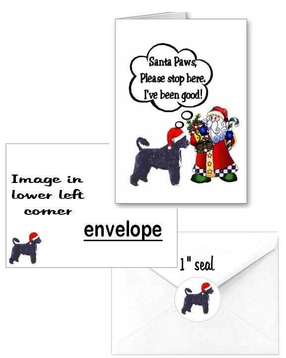 30 Potuguese Water Dog Christmas cards seals envelopes 90 pieces Santa Paws
