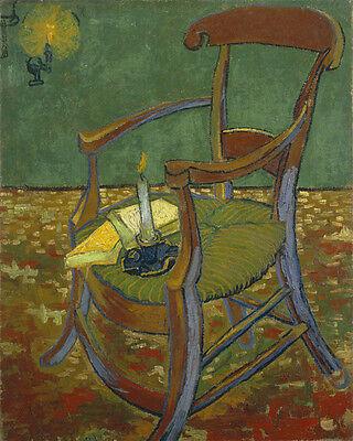 "Gauguin's Chair by Vincent Van Gogh, 8""x10"", Giclee Canvas Print"