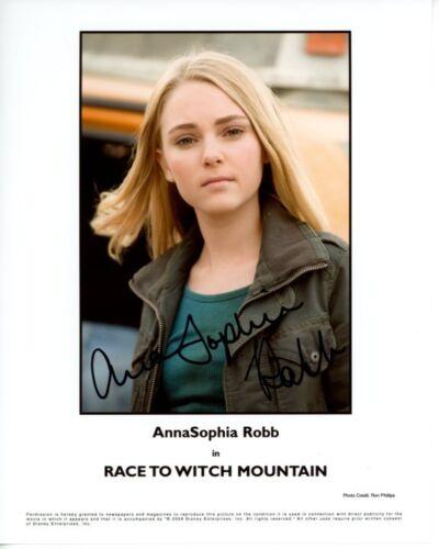 ANNASOPHIA ROBB signed autographed RACE TO WITCH MOUNTAIN SARA 8x10 photo