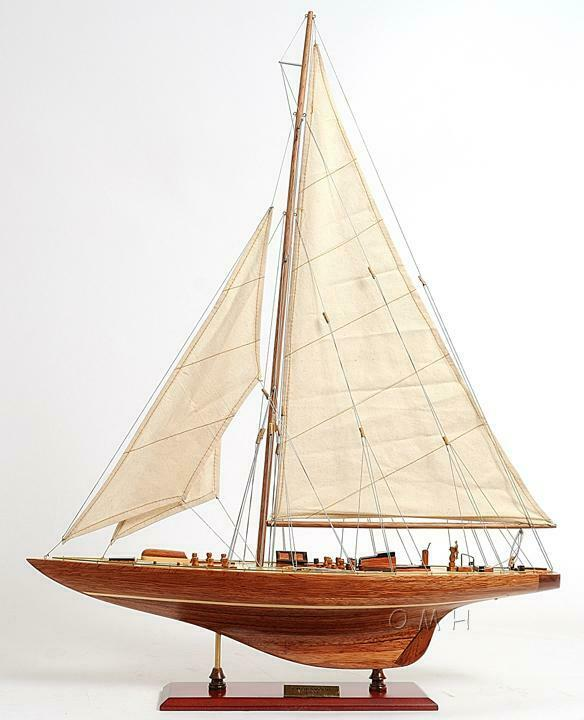 Old Modern Handicrafts® - Wooden Endeavour Sm Collectible Yacht Model