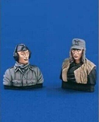 2 Figuras tanquistas alemanes WWII, 2 WWII German tank figures, 1/35