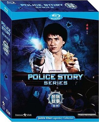 """Jackie Chan Police Story Trilogy"""" Maggie Cheung HK 3 Discs Boxset Blu-ray"""