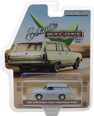 Greenlight 1//64 Estate Wagons S1 1965 Volkswagen Type 3 Panel Van Lt Grey 29910C