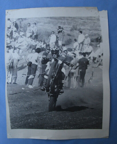 VINTAGE MOTOCROSS MOTORCYCLE PHOTOGRAPH RACING PHOTO DIRT BIKE 1960s CERIANI