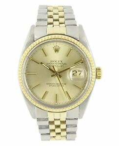 WANTED: Rolex Datejust Steel & 18K Yellow Gold