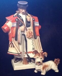 Hungarian Herende porcelain Shepherd and dog figurines Windsor Region Ontario image 1