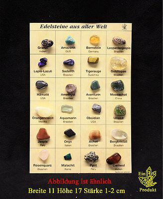 Mineralien Sammlung mit 24 Mineralien, Edelsteine aus aller Welt