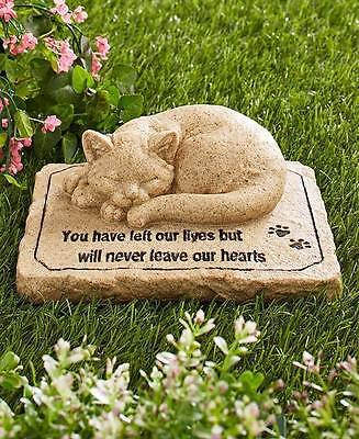 Cat Memorial Stone For Pet Cat Grave Marker Paw Prints
