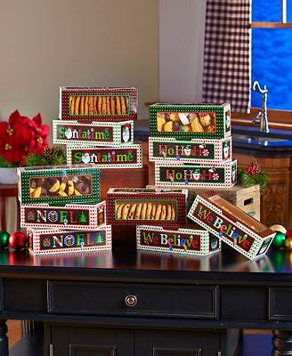 Set of 12 Holiday Treat Box Set For Homemade Christmas Cookies Candy Fudge Gift