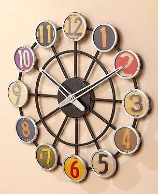 Retro License Plate Wall Clock Nostalgia Vintage Style Wall Art Home Decorations