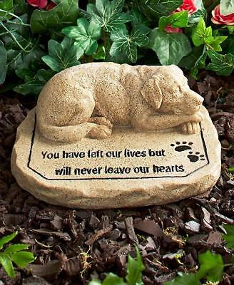 DOG Pet Memorial Garden Cemetary Grave Marker  Statue Sculpture Tomb Stone