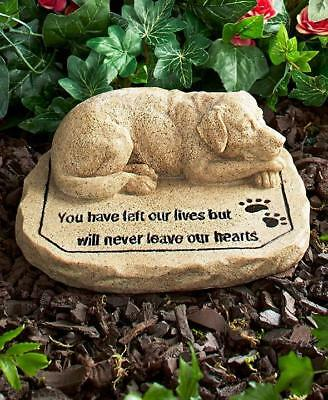 DOG Pet Memorial Garden Cemetery Grave Marker  Statue Sculpture Tomb Stone