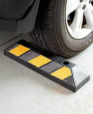 Heavy Duty Rubber Parking Wheel Stop Block Guide Curb Car Rv Suv Driveway Garage