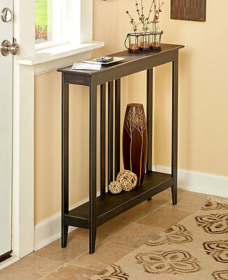 Slim Space Saver Accent Table Wooden Narrow Hallway Entry Sofa Storage 3 COLORS