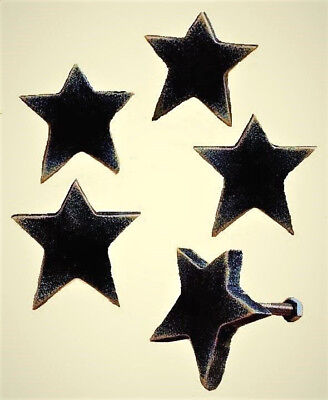 Country Cabinet Pulls - Rustic Country Wooden Star Drawer Pulls Cabinet Knobs - Set of 5