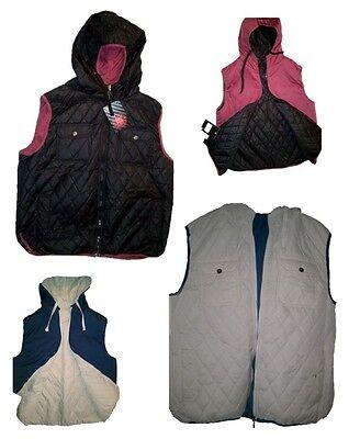 Men's Hooded Vest Reversible Sleeveless Jacket Platini (Reversible Sleeveless Vest)