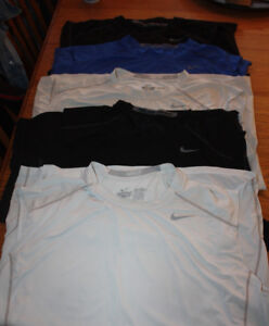 Nike Pro Combat dry fit sleeveless and nike dry fit sleeves