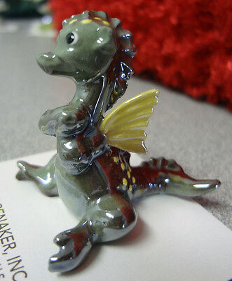 ➸ HAGEN RENAKER Fantasy Miniature Figurine Dragon Green