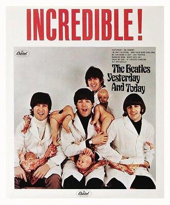 The Beatles POSTER Butcher Cover RARE image VERY LARGE McCartney Lennon Harrison