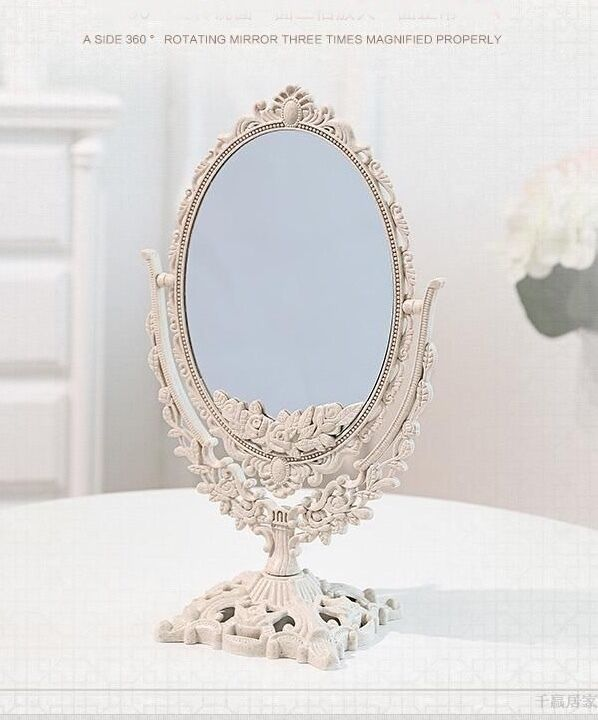 Double Sided Ornate Freestanding Mirror Dressing Table Mirro