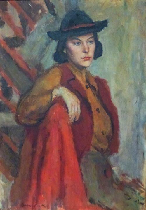 HOLLYWOOD STUDIO - RUSSIAN AMERICAN DOLYA GOUTMAN- 1934 LARGE OIL PAINTING  - $3,500.00